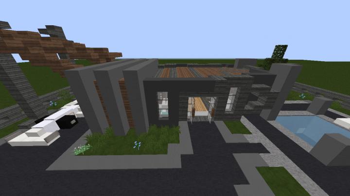 Maison moderne minecraft project - Maison modern minecraft ...
