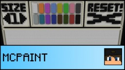 PAINT IN MINECRAFT!!! Minecraft