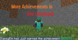 More Achievements in One Command Minecraft Map & Project