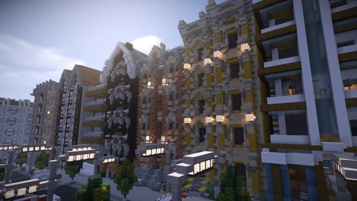 European Townhouses Line Crt Minecraft Project