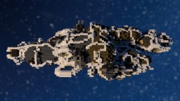 The Dauntless: bounty hunter space ship Minecraft