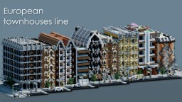 European townhouses line | CRT Minecraft Project
