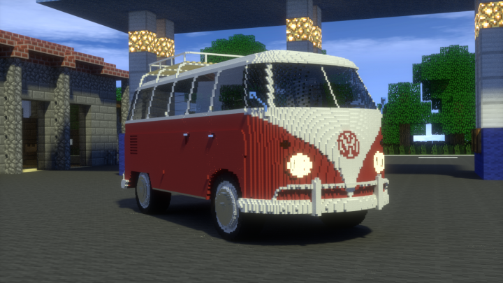 volkswagen t1 bus vw t1 van minecraft project. Black Bedroom Furniture Sets. Home Design Ideas