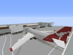 Boeing 747-400 Qantas Minecraft Map & Project