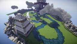 Japanese floating spawn island Minecraft Map & Project
