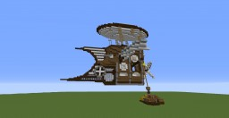 Small Steampunk Airship Minecraft Map & Project