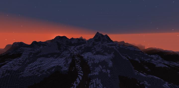 Sunset of the Himalayas