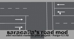 [1.7.10][Forge] Saracalia's Road Mod - Add Realistic Roads to Your Project Minecraft Mod