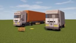 |Vehicles| 2 european trucks Minecraft Map & Project