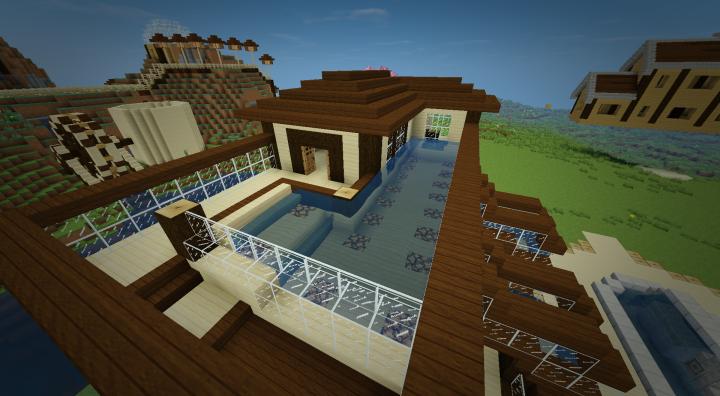 Maison En Bois Moderne  Modern Wooden House Minecraft Project ~ Maison En Bois Minecraft