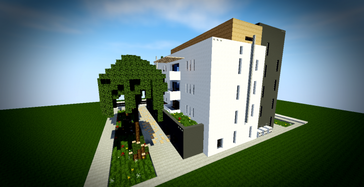 Batiment moderne 1 minecraft project - Batiment moderne ...