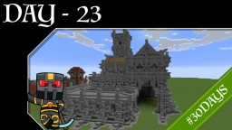 #30DAYS - Day 23 - Medieval Town Hall Minecraft