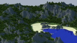 Pirates Cove, A chunk of the Deserted Island Minecraft Project