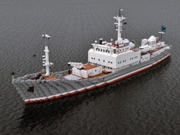 "Patrol / research vessel ""Экватор"" Minecraft"