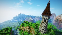 How To Build A Peaked Tower Roof Minecraft Map & Project