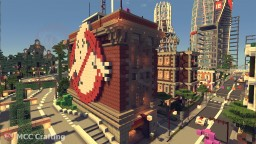 Ghost Busters Building Firestation House & Pixel Art Logo Minecraft Map & Project
