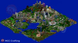 LBS City Full World Map Region Los Block Santos Isometric South West View How Big Can A PS3 World Be? Minecraft Map & Project