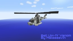 Bell UH-1Y Venom: Military Helicopter Minecraft Map & Project