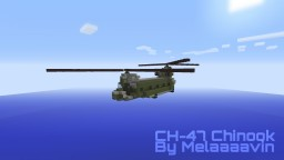 Boeing-Vertol CH-47 Chinook: Military Helicopter Minecraft Map & Project