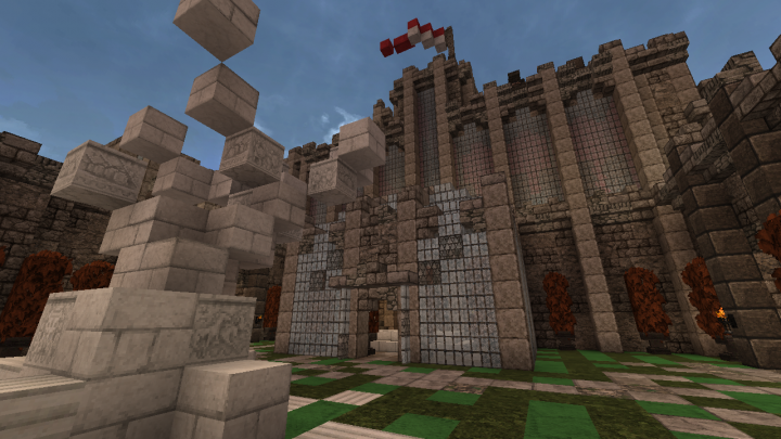 Medieval fortress 80x80 plot build minecraft project for Fortress build
