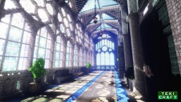 Corridor with stained glass window Minecraft Project
