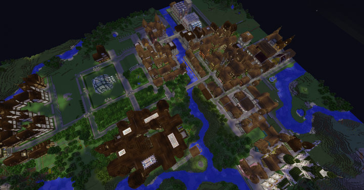 View of the castle and the town of Ravenwood