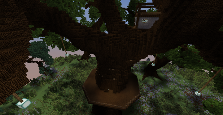 how to build a giant treehouse in minecraft