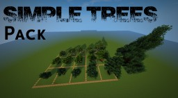 Simple Trees PACK [FREE USE DOWNLOAD] Minecraft Map & Project
