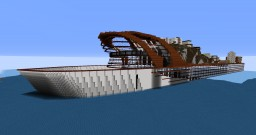 Coruscant, the largest ship ever built Minecraft Map & Project
