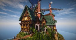 Tudor style house Minecraft Project