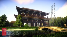 Reproduction of Japanese temples Minecraft