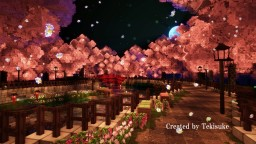 Cherry‐tree‐lined path Minecraft Map & Project