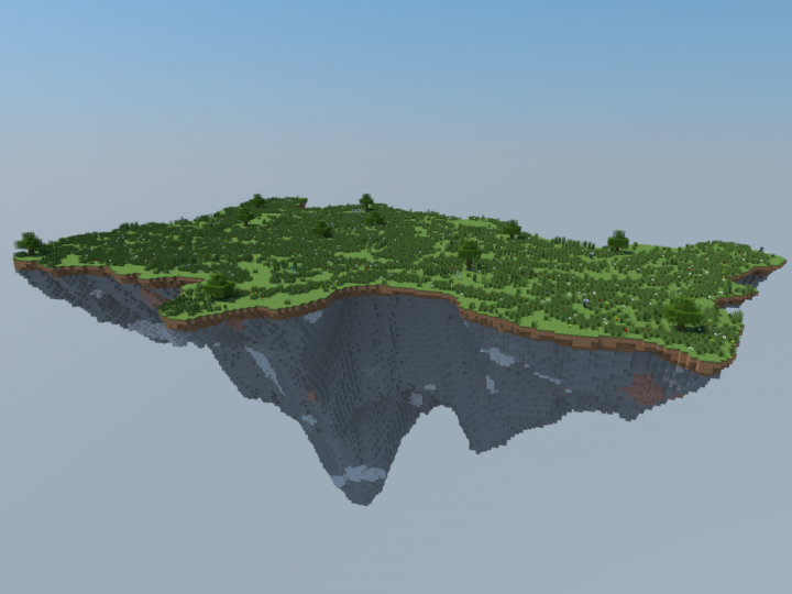 Island Map 3D Rendering