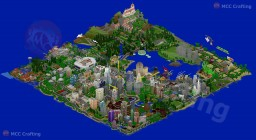LBS City Full World Map Region Los Block Santos Isometric North East View How Big Can A PS3 World Be? Minecraft Project