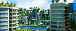 Banghai City and The Palace of Leng Minecraft Project