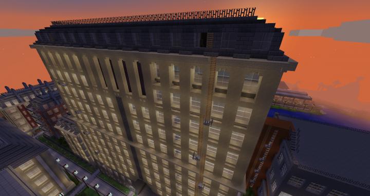 Soviet Apartment Building Minecraft Project