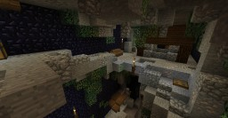 Natural cave base Minecraft Project