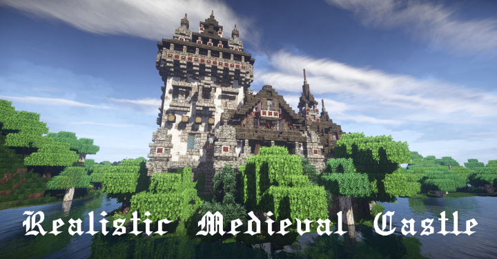 Realistic Medieval Castle With Interior Download