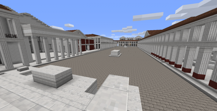 Recreate historic sites, such as this Forum of Pompeii! WIP!