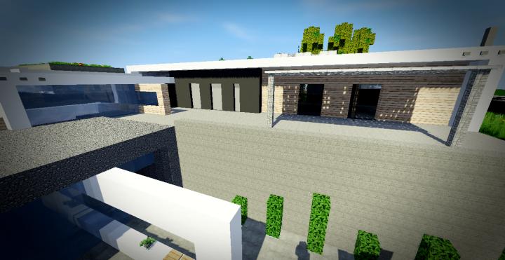 Maison moderne 11 minecraft project - Maison modern minecraft ...