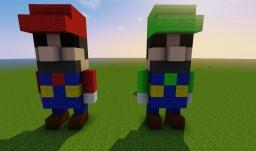 Mario and Luigi Minecraft Map & Project