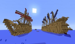 Battleship Royal Restartable PvP Cannon FRENZY Minecraft Map & Project