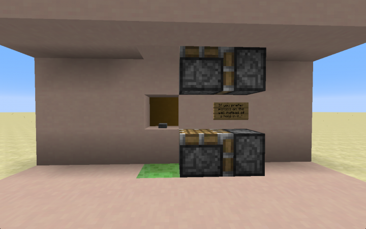 If you really need to save space or just like it this way, you can make the pistons hang on the wall