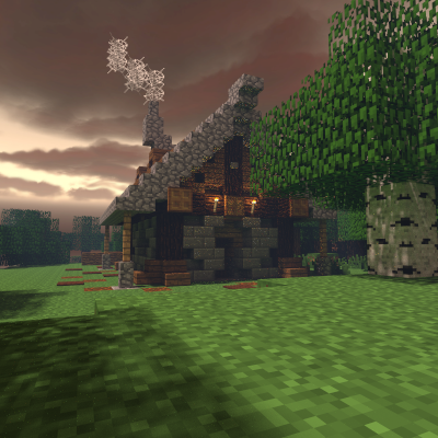 Fantasy Medieval Forest House Minecraft Map