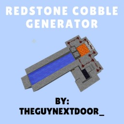 Redstone Cobble Stone Generator With Lever and Pistons