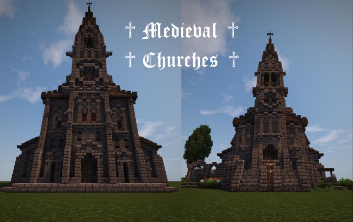 Medieval Churches Minecraft Map