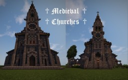 ♱ Medieval Churches ♱ Minecraft