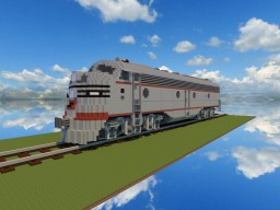 Diesel locomotive EMD E8 Burlington route Minecraft Map & Project