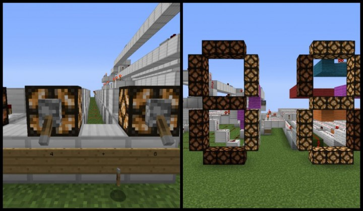 Simple Calculator With 7 Segment Display Minecraft Project