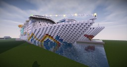 Cruise ship M.s Neptune sunset Minecraft Map & Project
